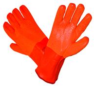 RĘKAWICE OCIEPLANE Z PCV ZAKOŃCZONE MANKIETEM Rękawice z PCV ocieplane pianką mrozoodporną. Podszewka z dzianiny. Szorstkowana powierzchnia. Zakończone mankietem.